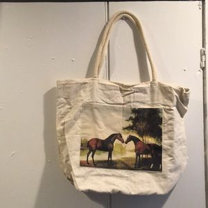 Handbags - Lined canvas tote-style purse